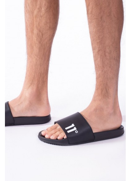 11 Degrees Core Slides - Black/White