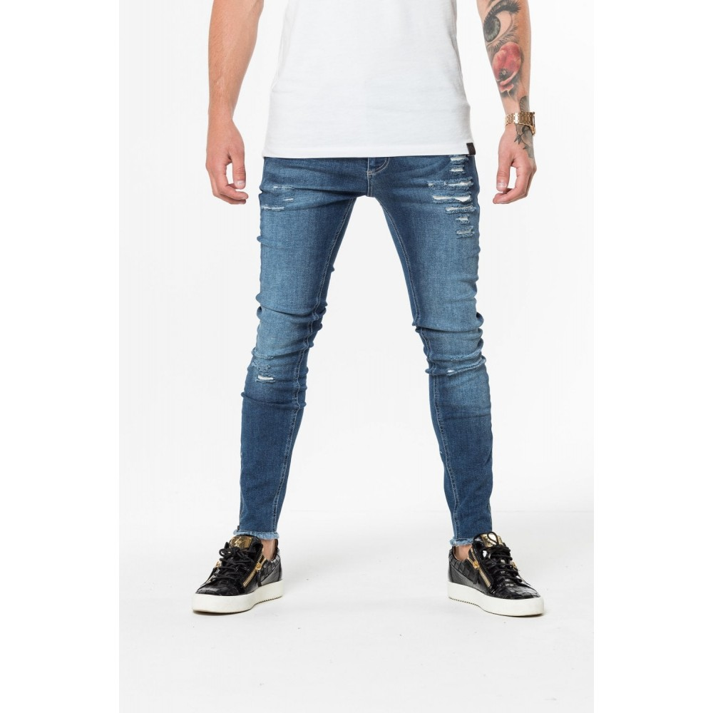 11 Degrees Distressed Jeans Skinny Fit - Indigo