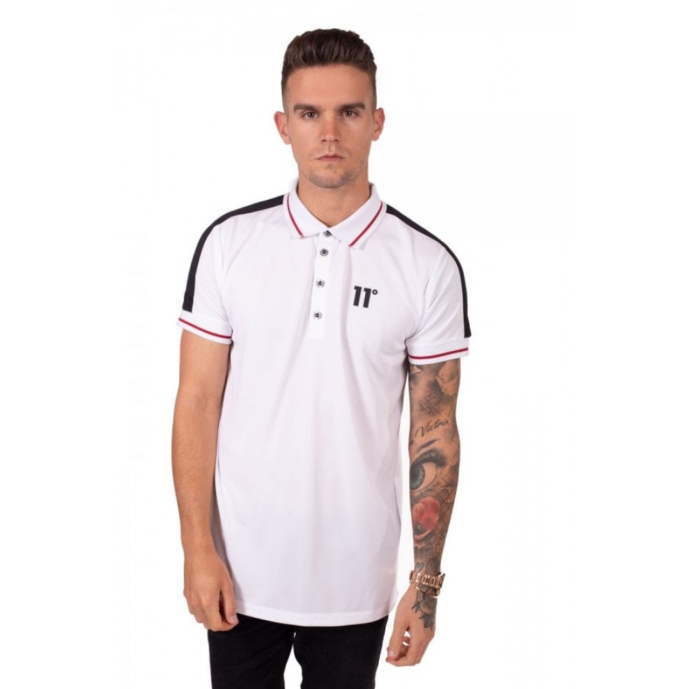 11 Degrees Eagle Polo Shirt - White
