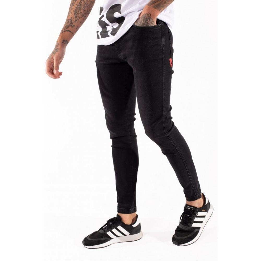 11 Degrees Stretch Jeans Skinny Fit - Jet Black Wash