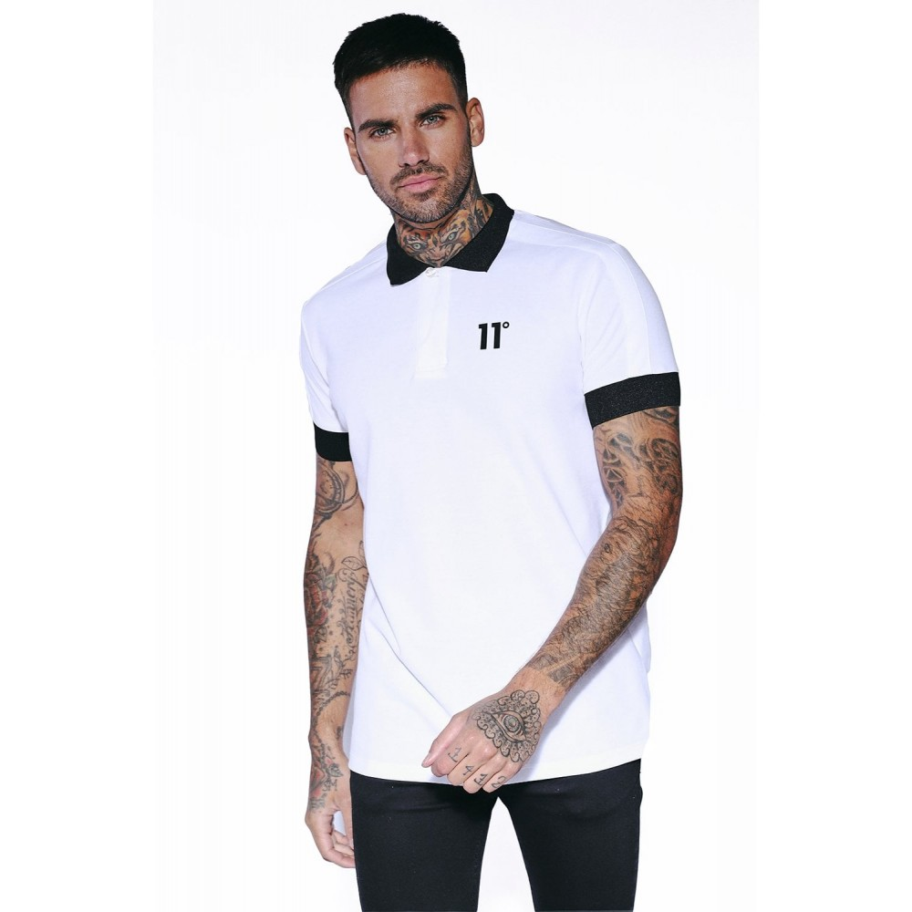11 Degrees Odin Polo Shirt - White