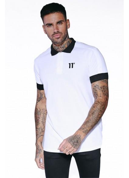 11 Degrees Odin Polo Shirt - White