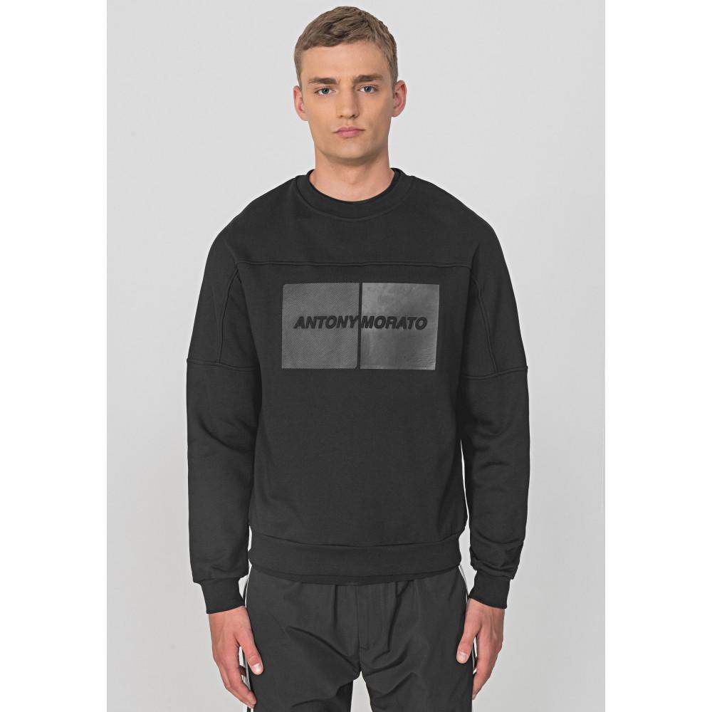 Antony Morato Black Oversized Sweatshirt