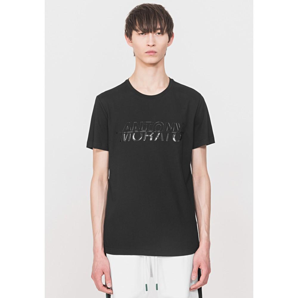 Antony Morato Black Glossy Print T-Shirt