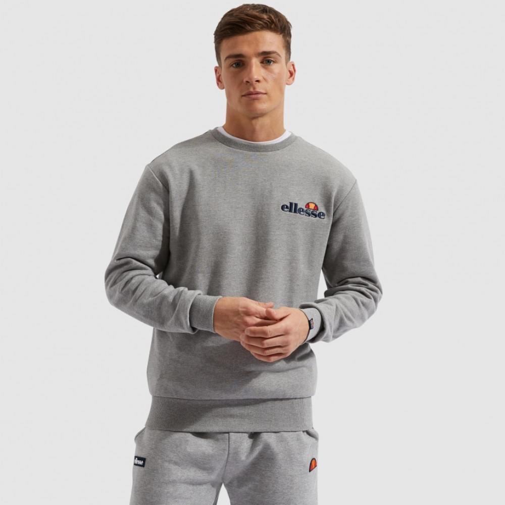 Ellesse Fierro crew sweat grey marl