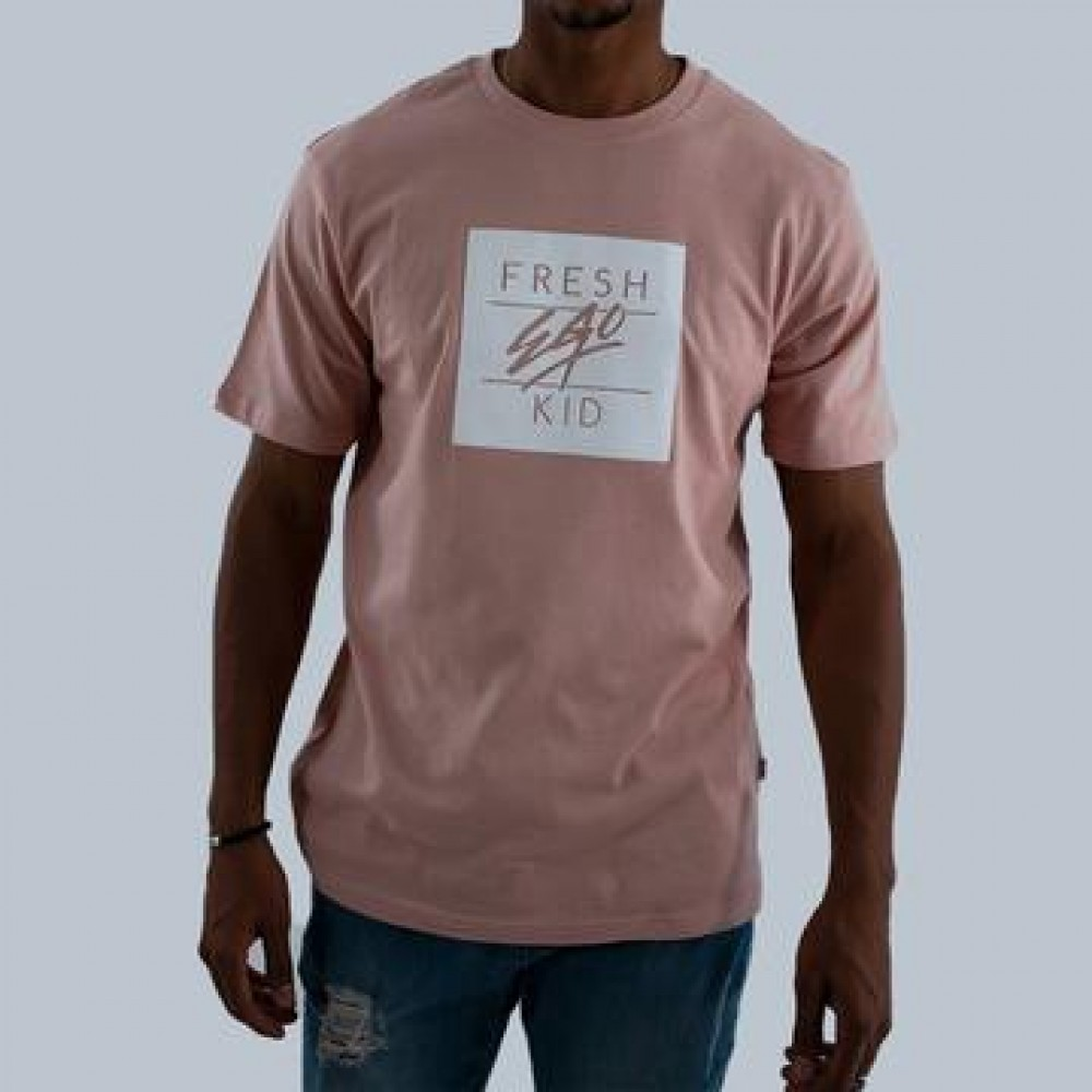 Fresh Ego Kid Box Logo Dusty Pink T-Shirt