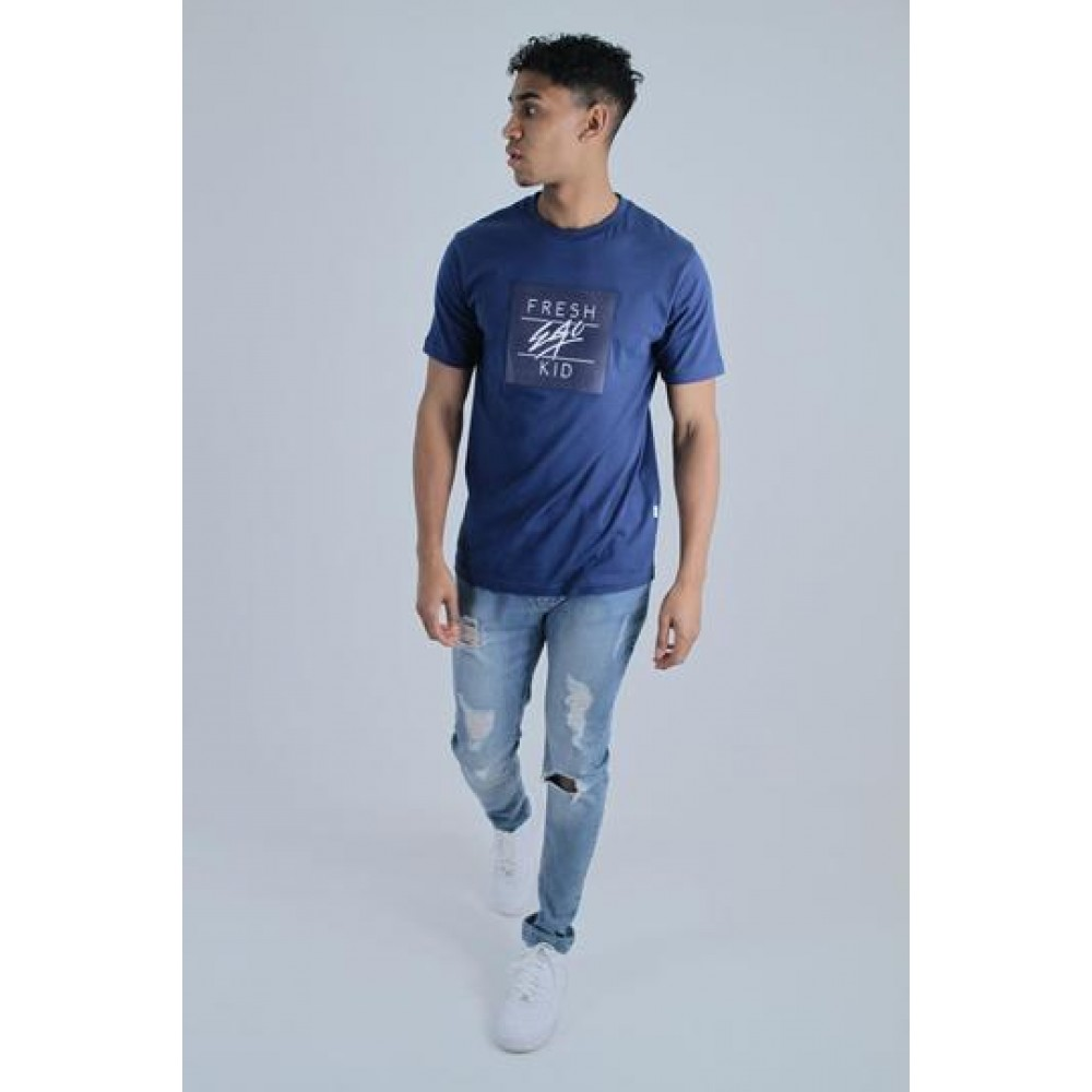 Fresh Ego Kid Box Logo Royal Blue T-Shirt