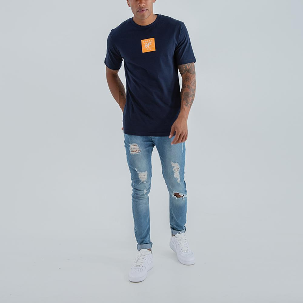 Fresh Ego Kid Small Box Logo Navy T-Shirt
