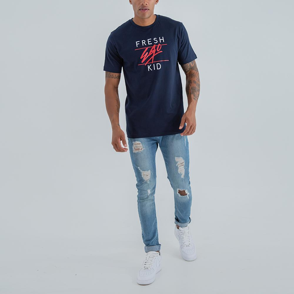 Fresh Ego Kid Big Heritage Navy T-Shirt