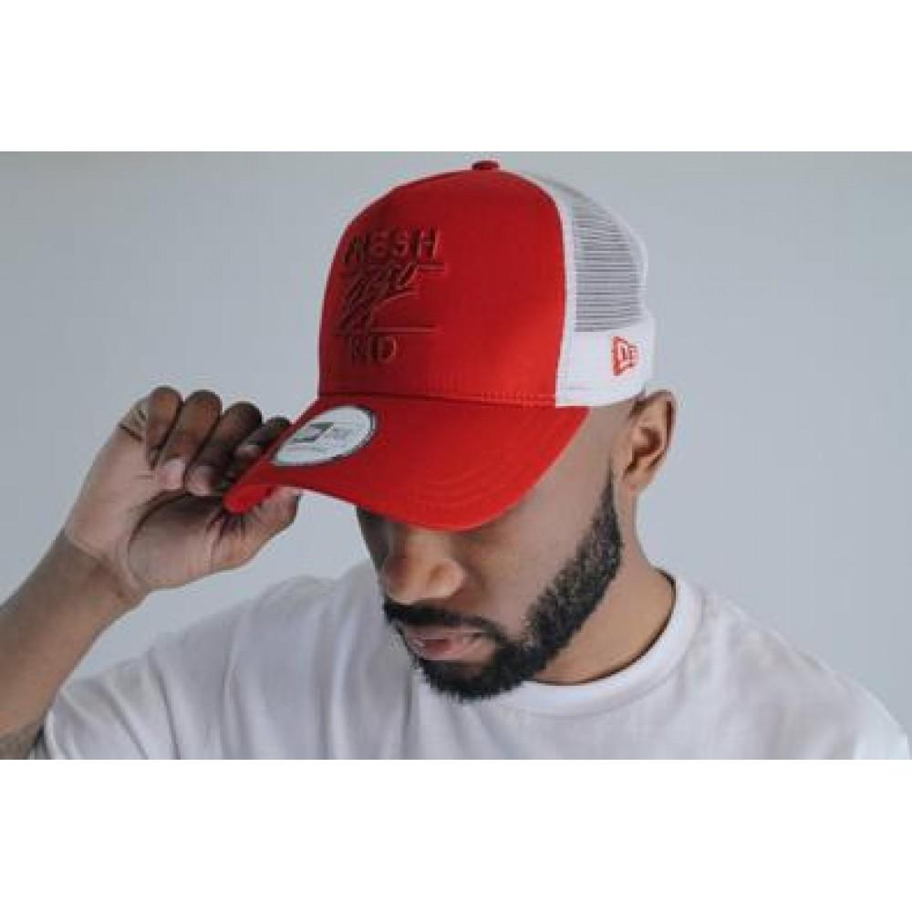 Fresh Ego Kid x New Era Mesh Trucker Cap - Red / White