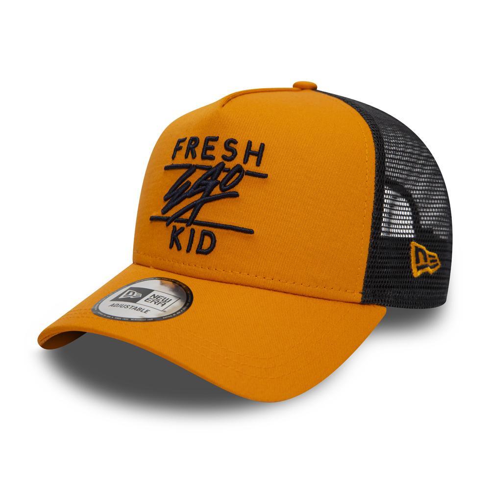 Fresh Ego Kid x New Era A-Frame Orange Trucker