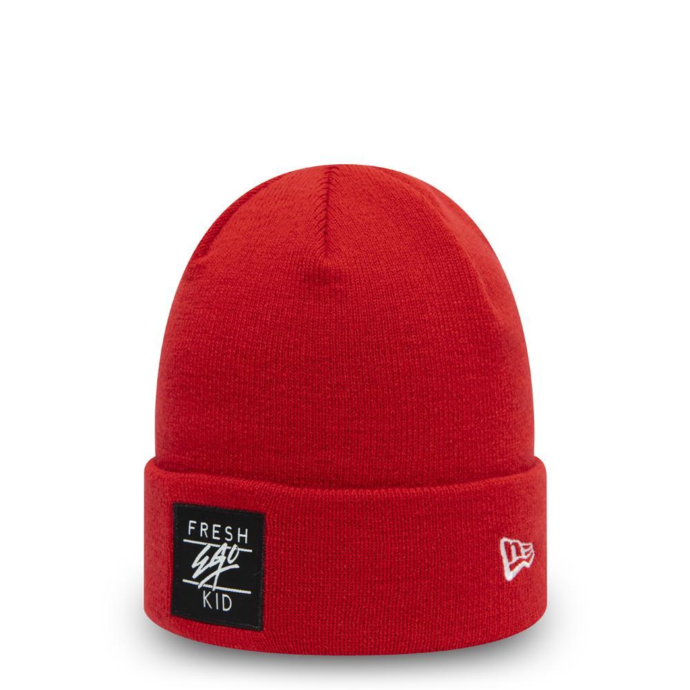 Fresh Ego Kid x New Era Box Logo Red Beanie