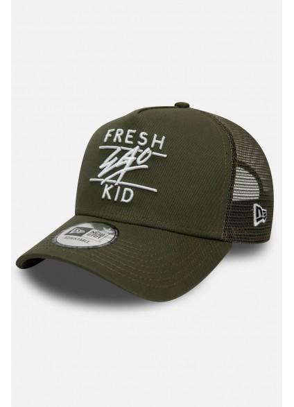 Fresh Ego Kid Khaki Mesh Trucker Cap