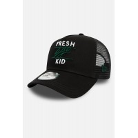 Fresh Ego Kid Black & Green Mesh Trucker Cap