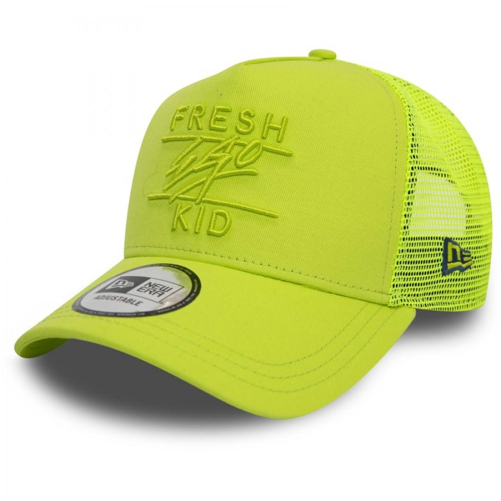 Fresh Ego Kid x New Era Lime Green Trucker Hat