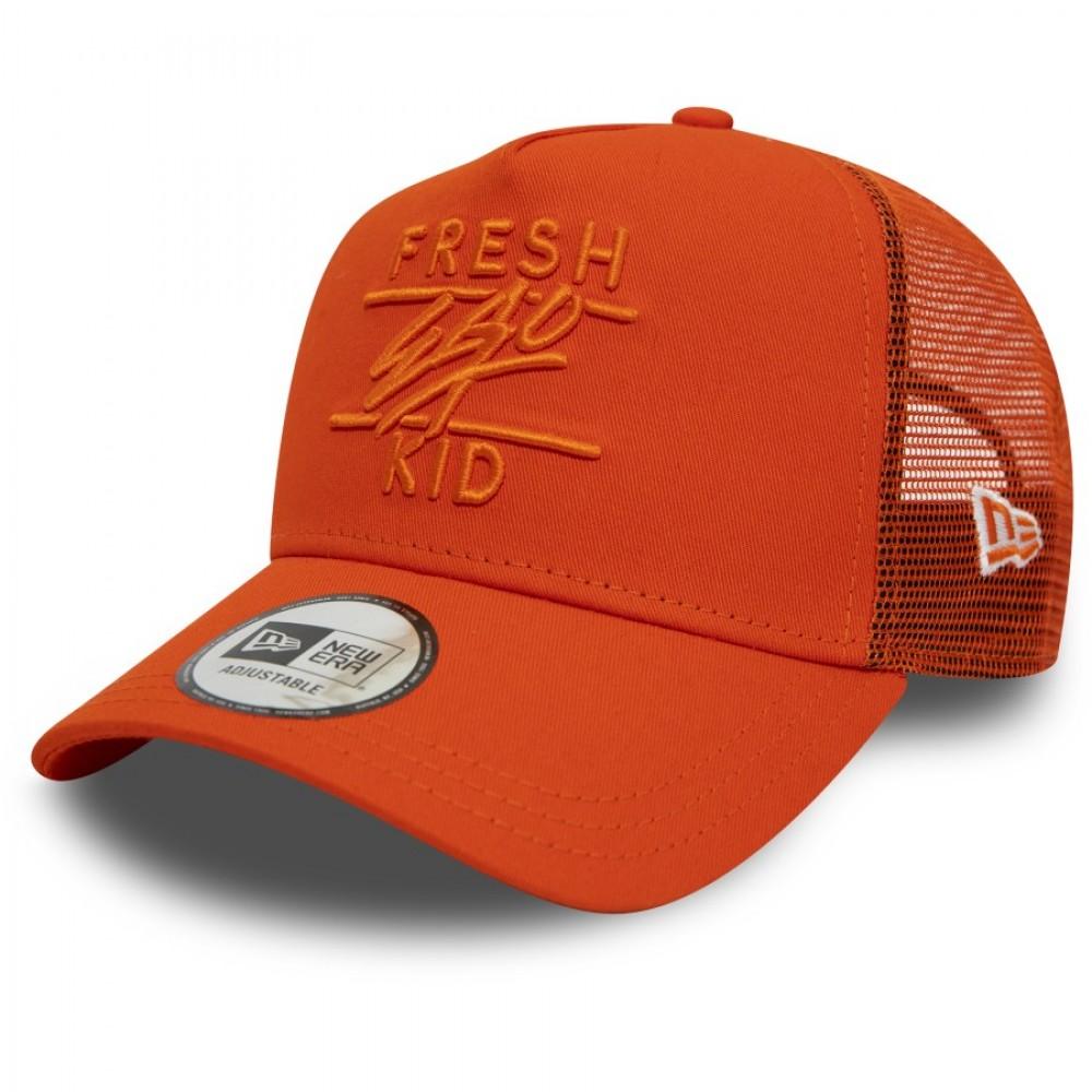 Fresh Ego Kid x New Era Orange Trucker Hat