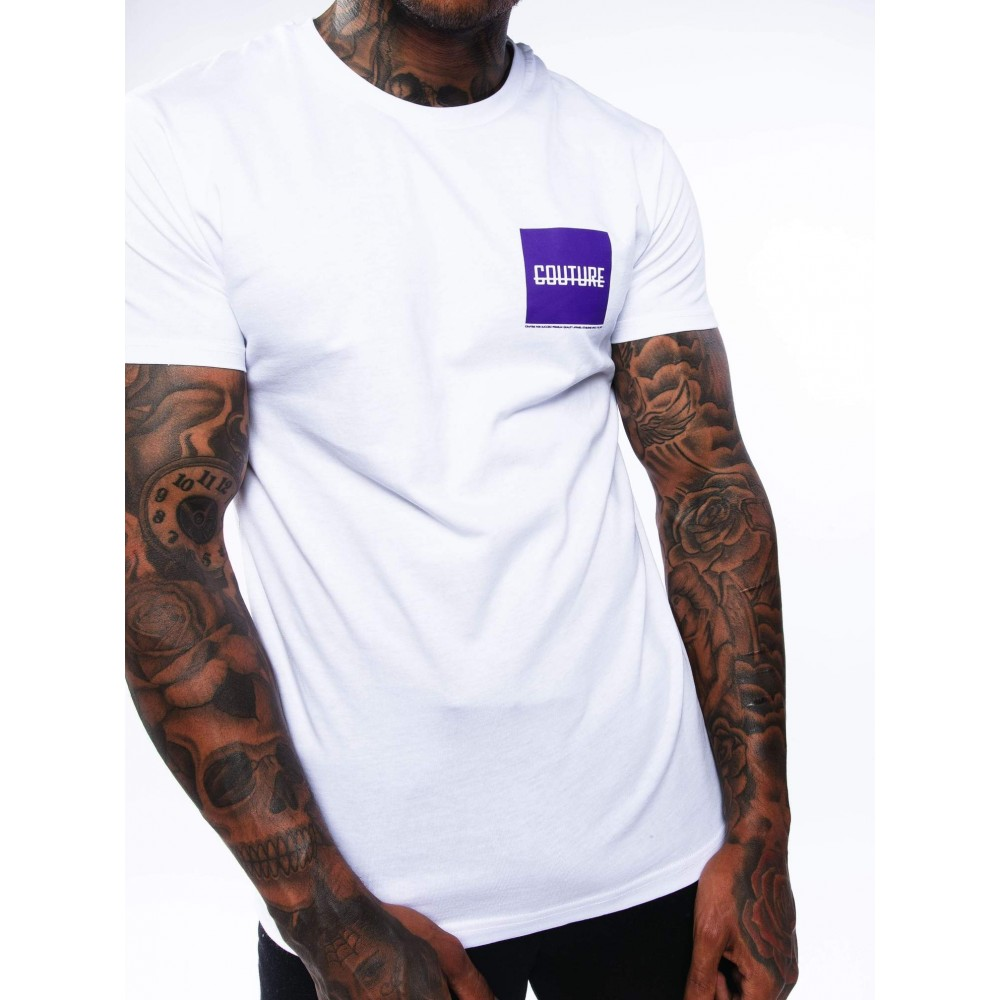 Fresh Couture Block Strike T-Shirt 'White/Grape'