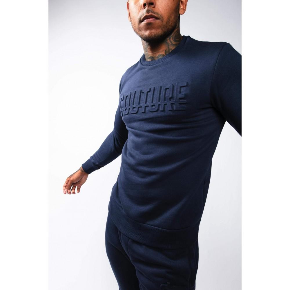 Fresh Couture Monaco Crew Sweatshirt 'Navy'