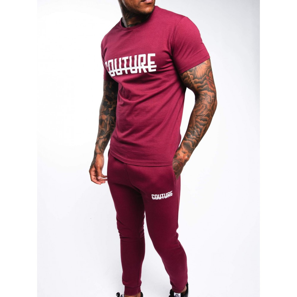 Fresh Couture Strike OG T-Shirt Burgundy 'White Pack'