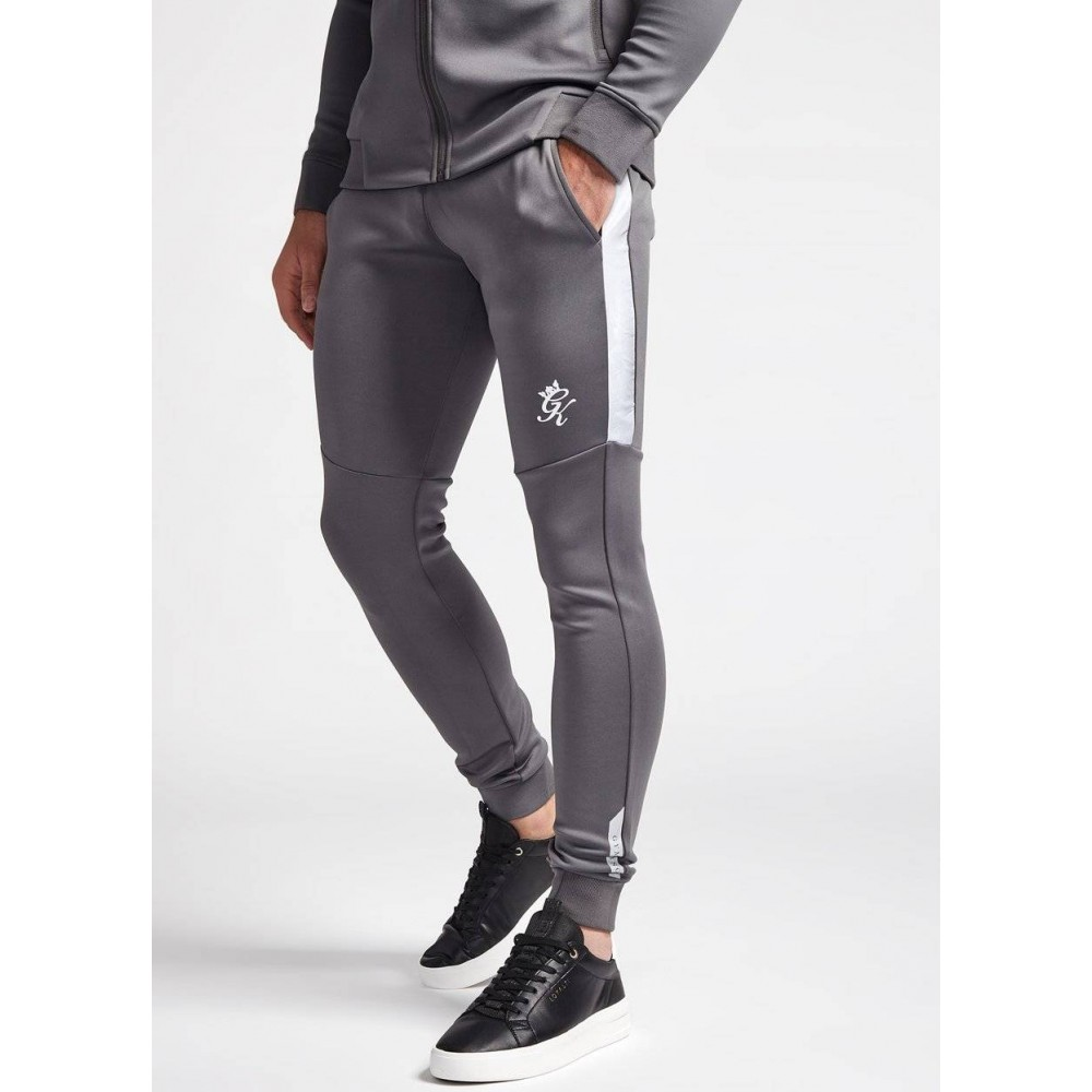 Gym King Contrast Core Plus Dark Grey & Camo Poly Pants