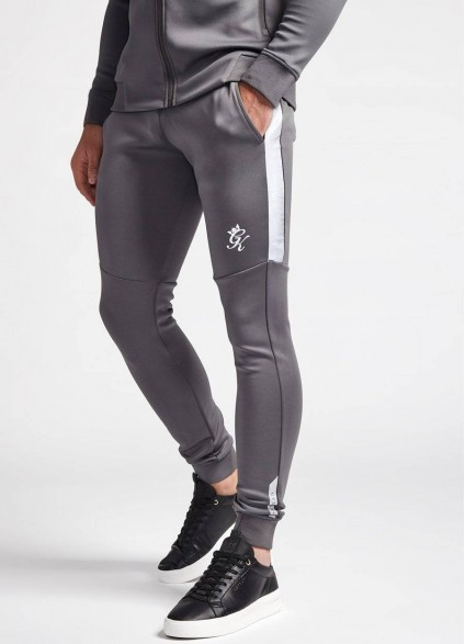Gym King Contrast Core Plus Dark Grey & Camo Poly Pants