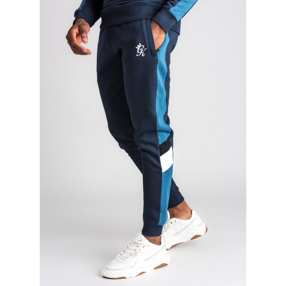 Gym King Capone Navy/White/Teal Tracksuit Bottom