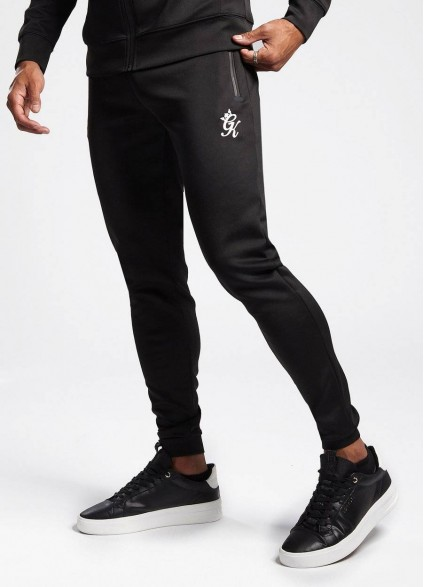 Gym King Loyton Black Tracksuit Bottoms