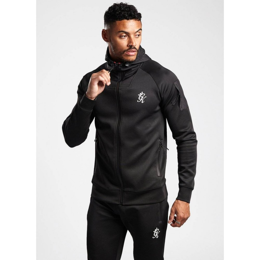 Gym King Loyton Black Tracksuit Top