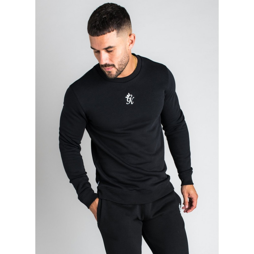 Gym King Basis Crew Neck Black Sweatshirt