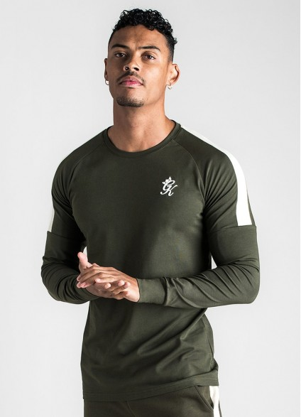 Gym King Core Plus Long Sleeve Forest/Stone T-Shirt