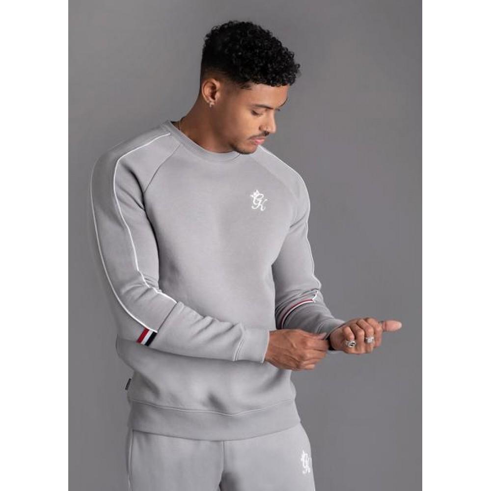 Gym King Woods Retro Taped Grey Sweatshirt