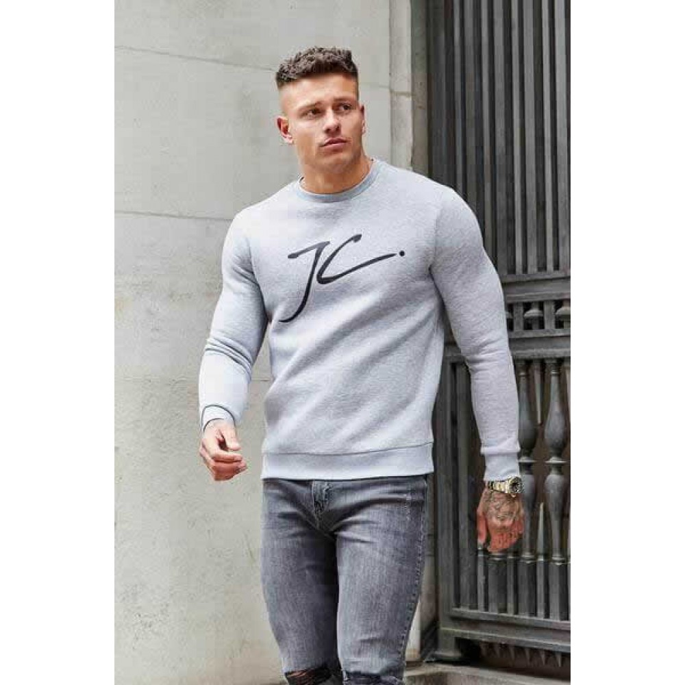 Jameson Carter Large JC Jumper - Grey Marl
