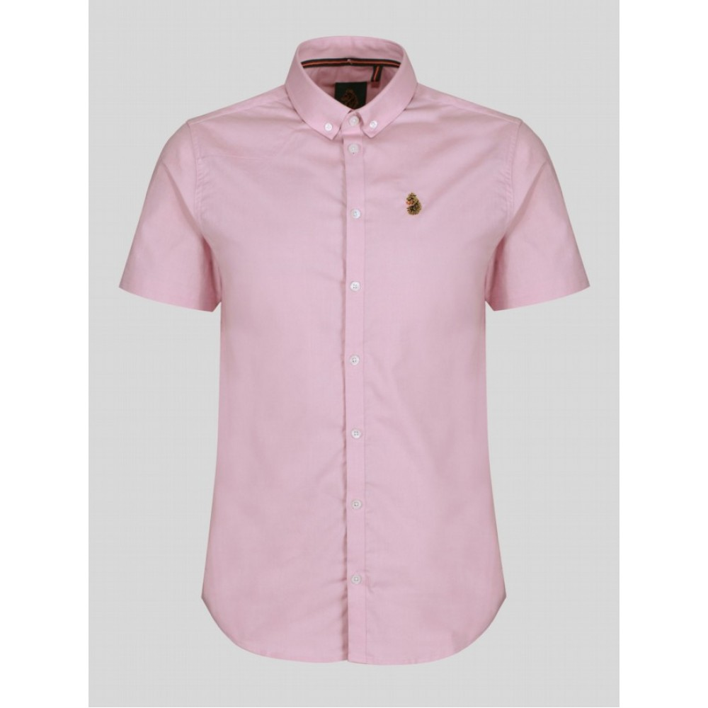 Luke Sport Jimmy Stretch Pink White Shirt