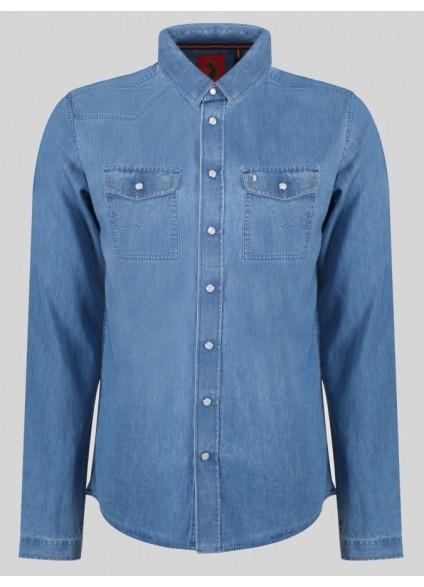 Luke 1977 Westerned Light Blue Shirt