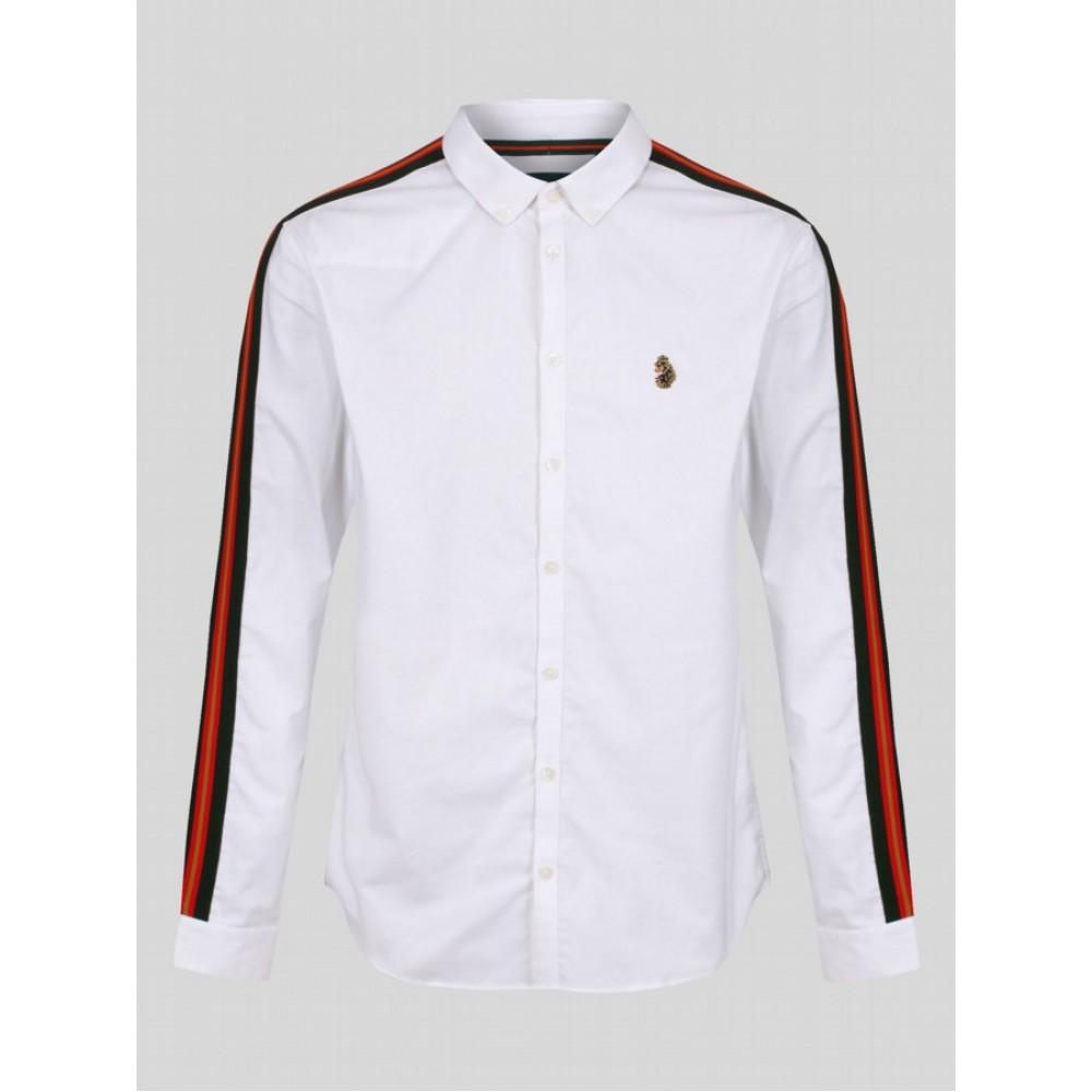 Luke Sport Stripe Club Shirt - White