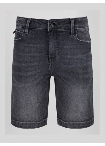 Luke 1977 Nimed Light Black Denim Shorts