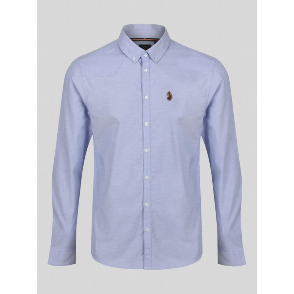 Luke Sport Cuffys Stretch Sky White Shirt