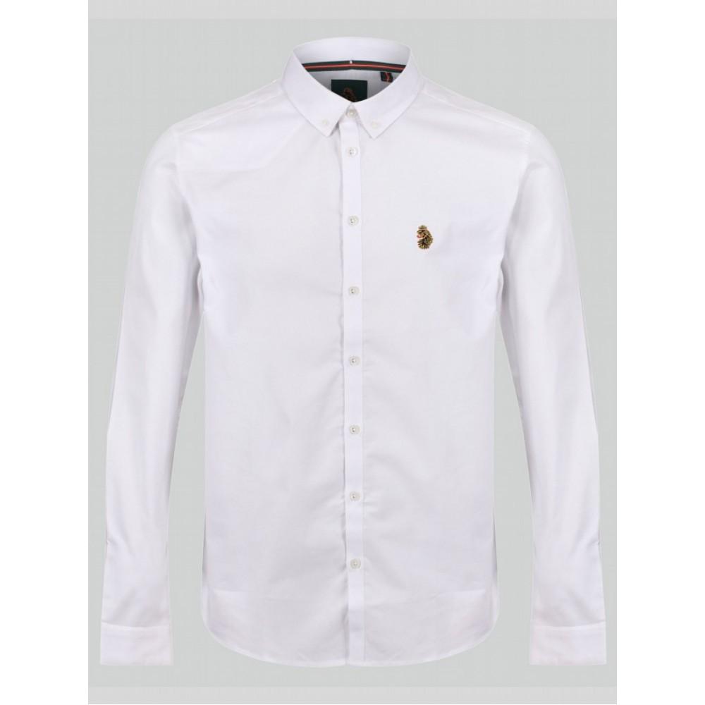 Luke Sport Cuffys Stetch White Shirt