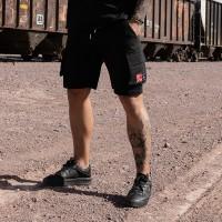 Nimes Cargo Pocket Shorts Black