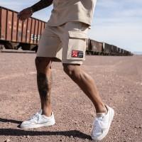 Nimes Cargo Pocket Shorts Stone