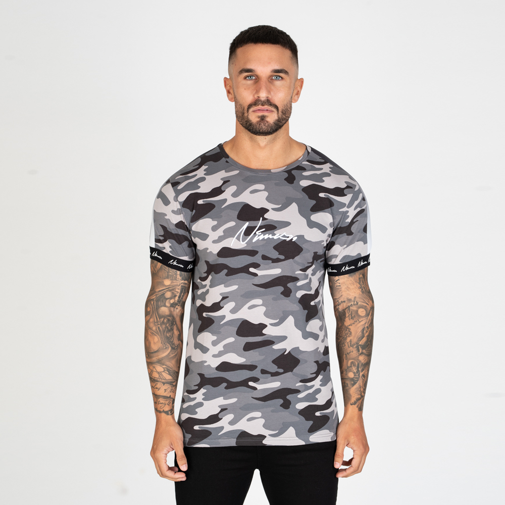 Nimes Faded Tape T-Shirt in Camo