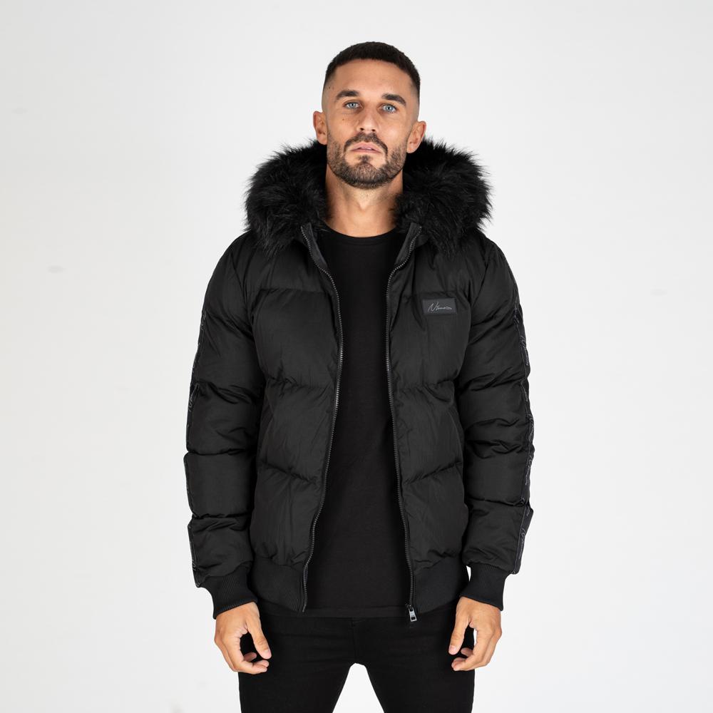 Nimes Bomber Jacket in Black
