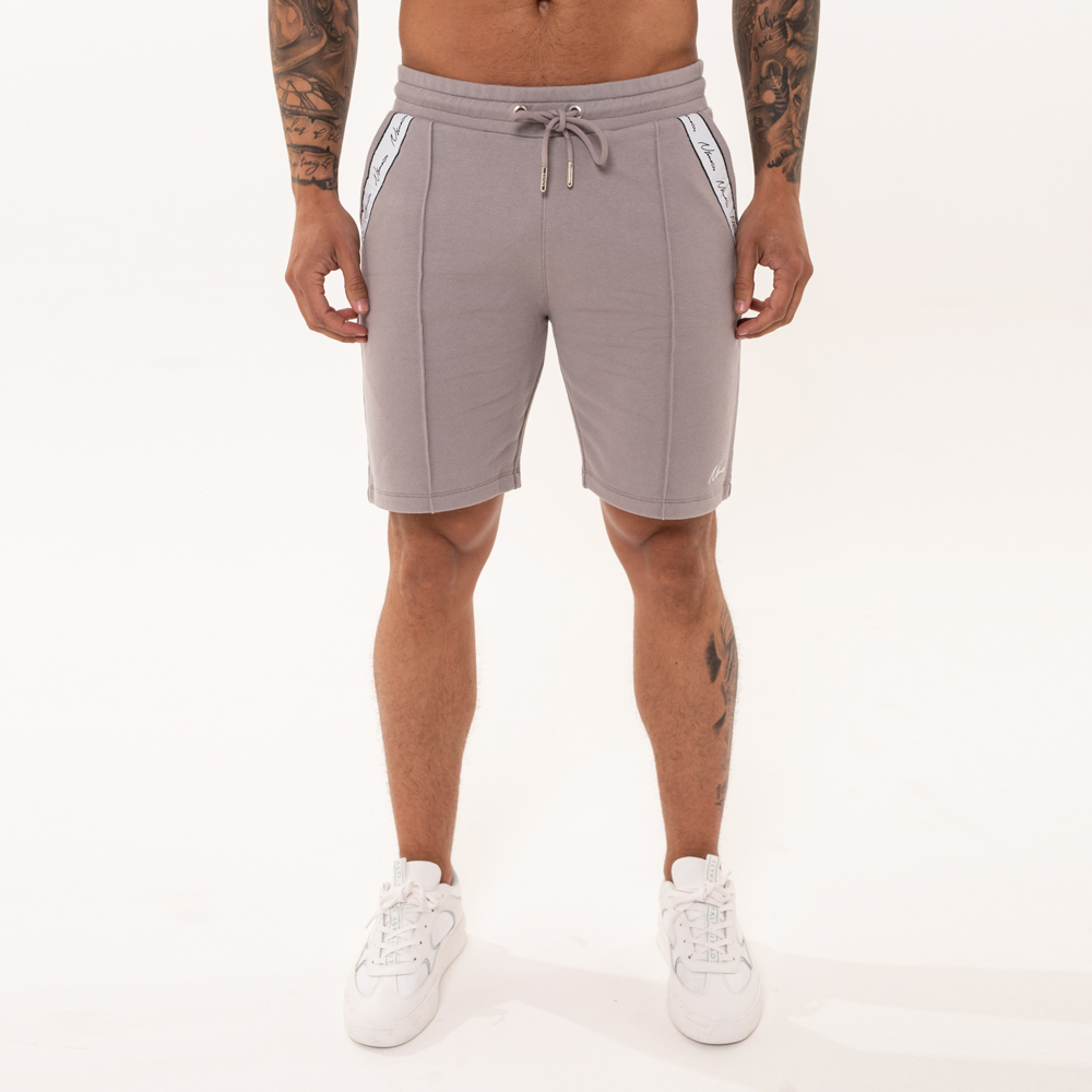 Nimes Signature Tape Shorts in Grey
