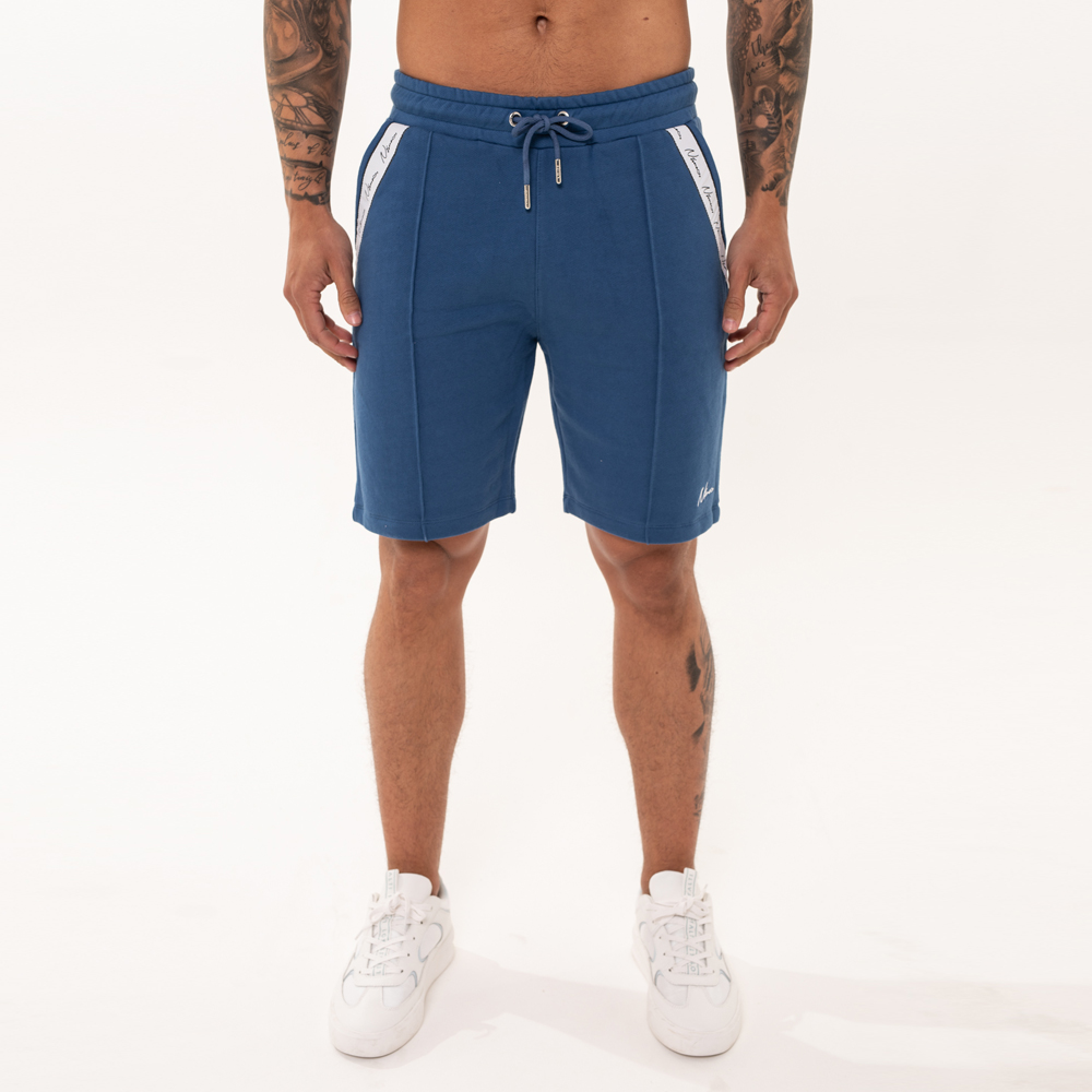 Nimes Signature Tape Shorts in Navy
