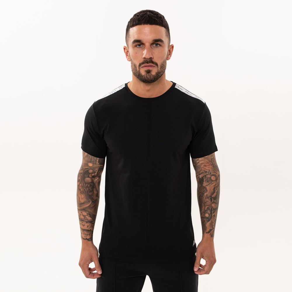 Nimes Signature Tape T-Shirt in Black