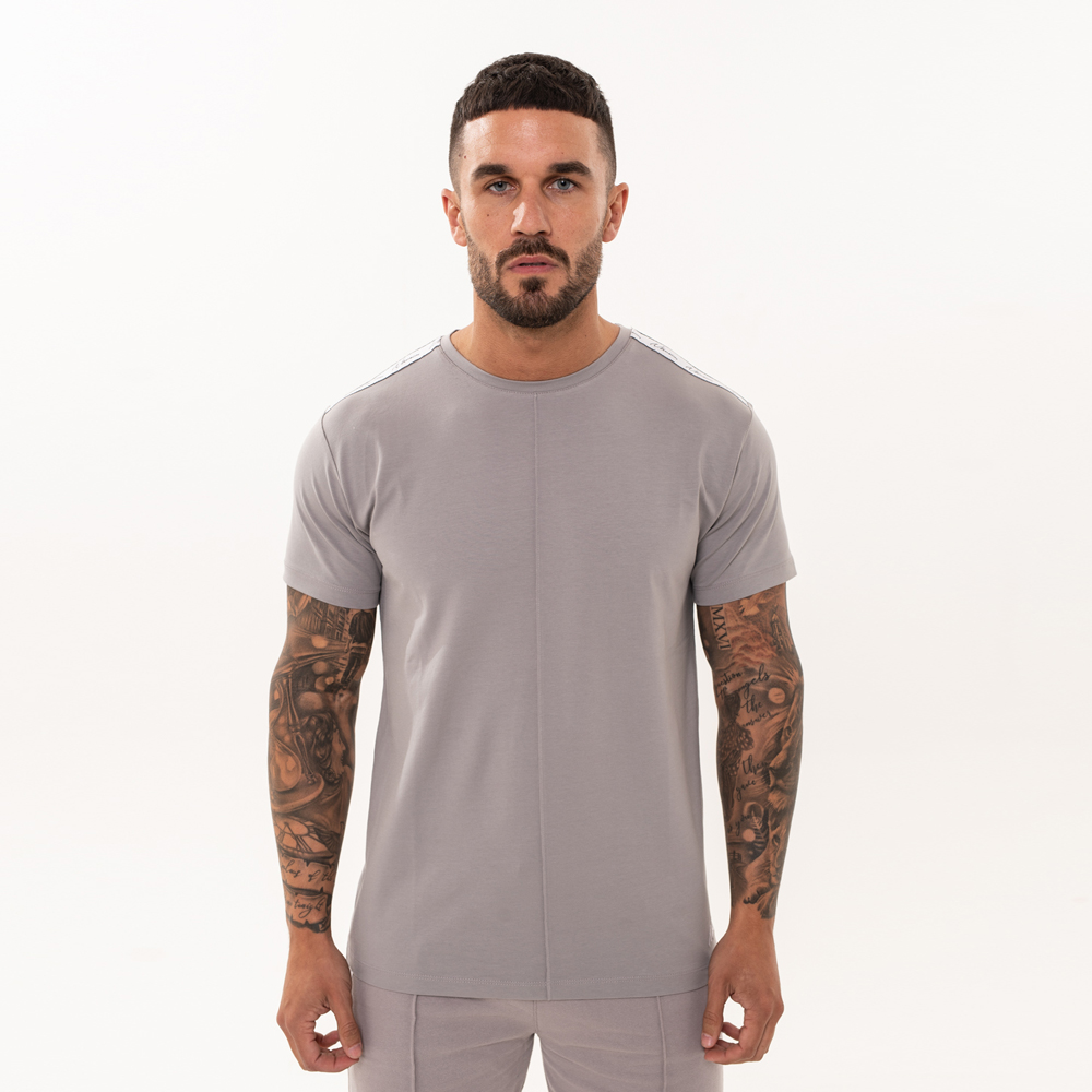 Nimes Signature Tape T-Shirt in Grey