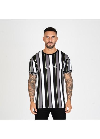 Nimes Stripe T-Shirt – Black/Neon