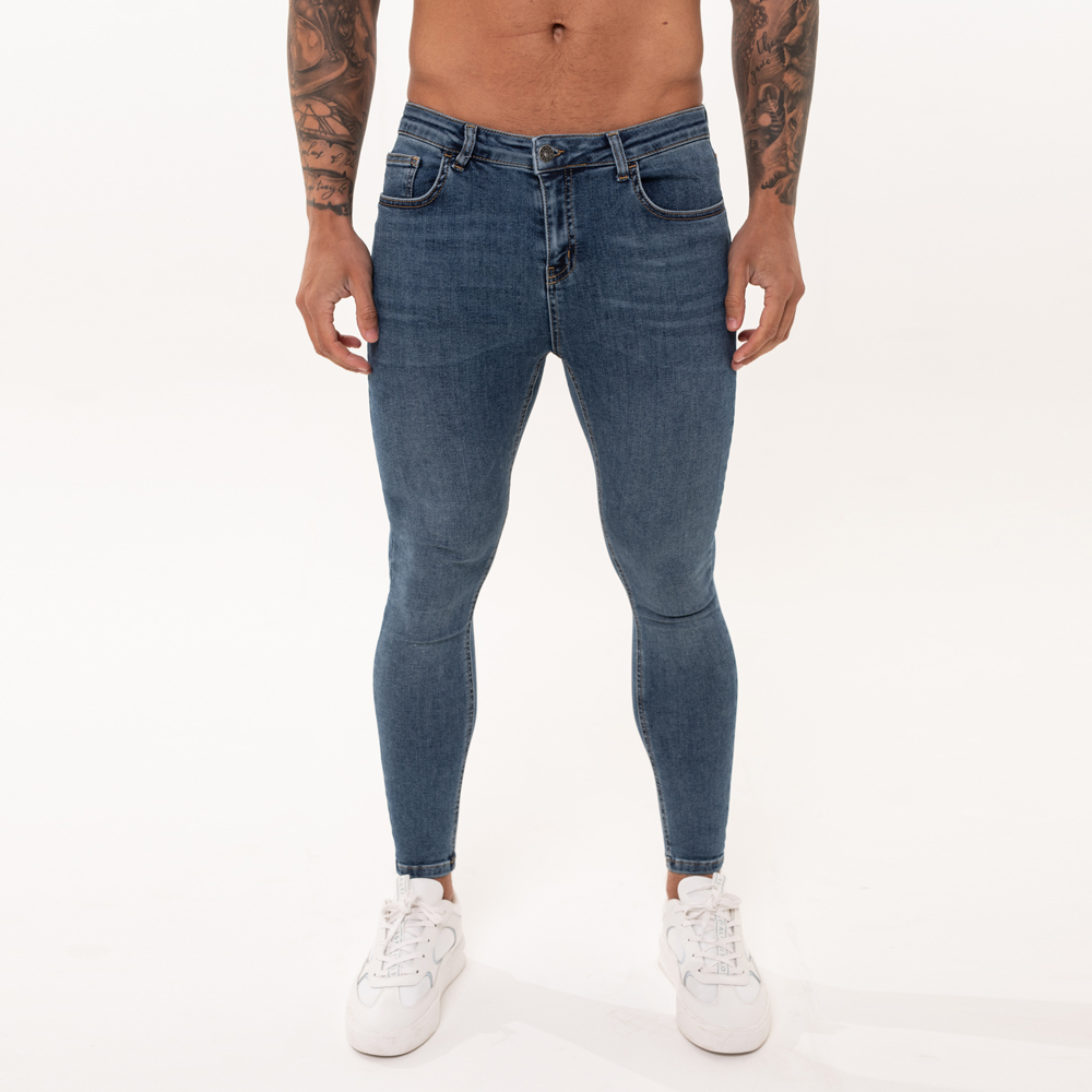 Nimes Super Skinny Spray on Jeans – Dark Blue Non-Ripped