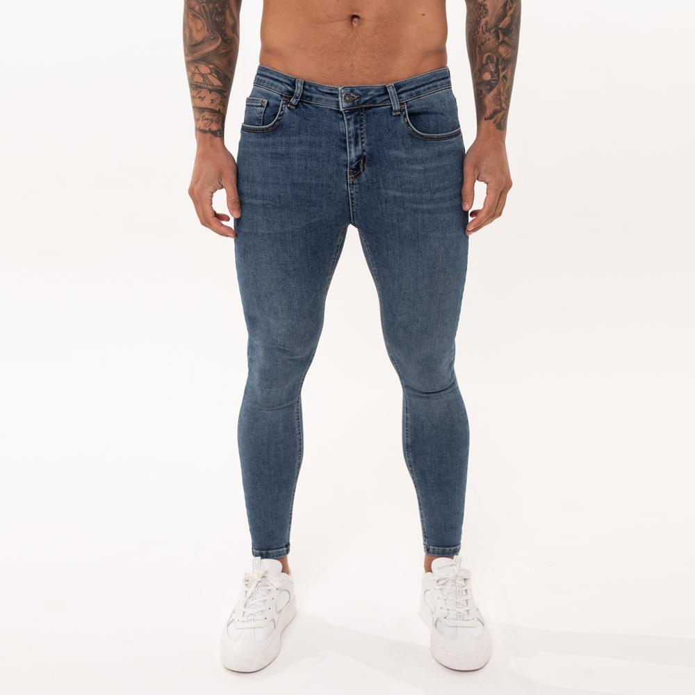 Nimes Super Skinny Spray on Jeans – Dark Blue Non-Ripped