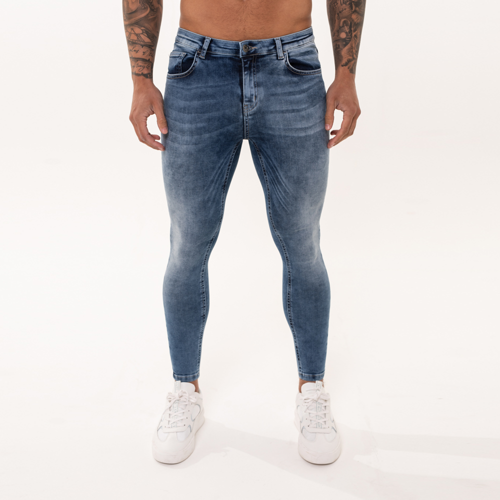 Nimes Super Skinny Spray On Jeans – Light Blue Non Ripped
